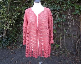 "Jacket, crochet Jacket ""coral"", Gr. 40-44"