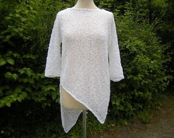 Sweatshirt, sweater, tip, asymmetric,, Gr. 38/40, White