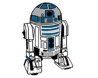 R2D2 Star Wars embroidery design R2-D2 machine Instant Download