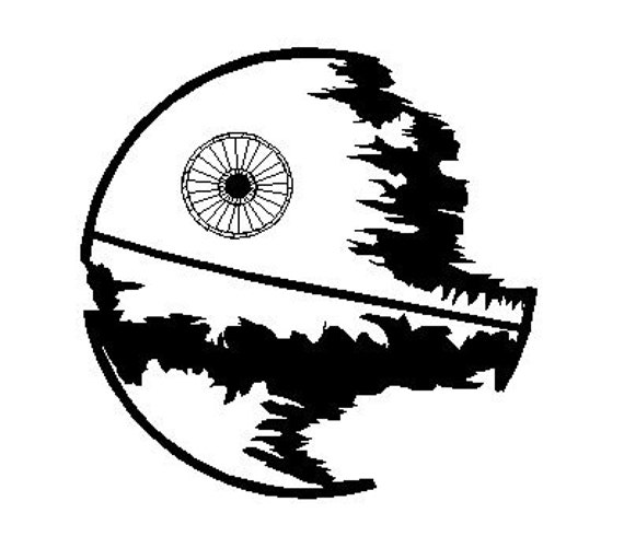 Star Wars Embroidery Design The Death Star Instant