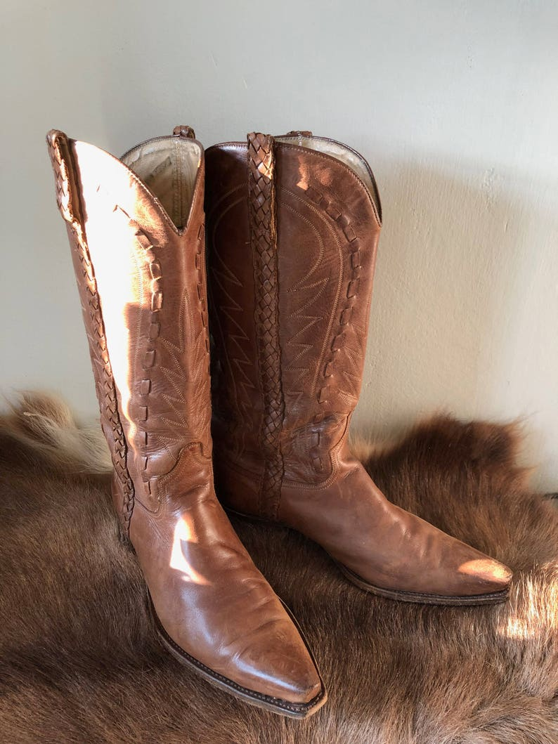 05662939b37 SENDRA Western boots, made in Spain, brown, leather, size 41 EU/7 UK.