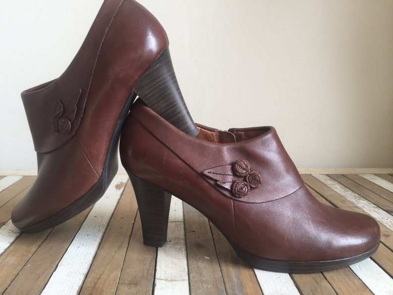 22b0c64637d09 CAPRICE vintage Stylish women's shoes brown leather | Etsy