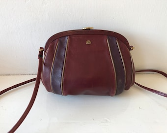 ASSIMA CREATIONS, vintage purse, cross body, shoulder bag, real leather 60s,