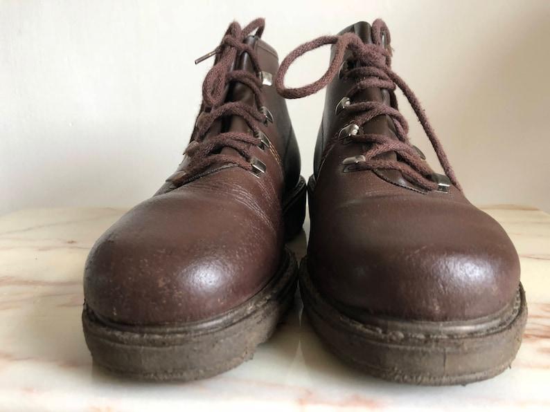 6UK size 39EU leather brown tough Vintage GEP shoes Vetersschoenen