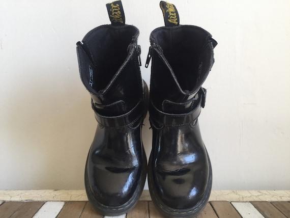 después del colegio Mediar para castigar  DR MARTENS botas vintage charol negro niño unisex talla 32 | Etsy