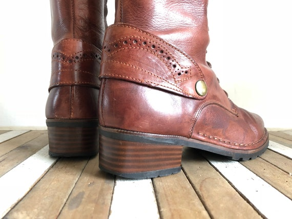 leather up Spain PIKOLINOS Vintage boots Lace child Ladies woman real 36EU 66RATYI