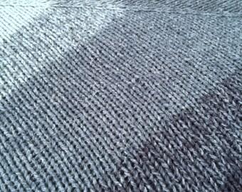 Blue triangle - triangular scarf shawl blue shawl