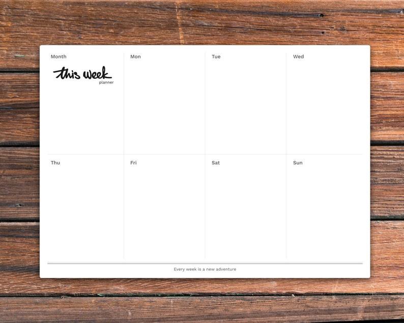 Printable weekly desk planner This Week Planner. PDF is image 0