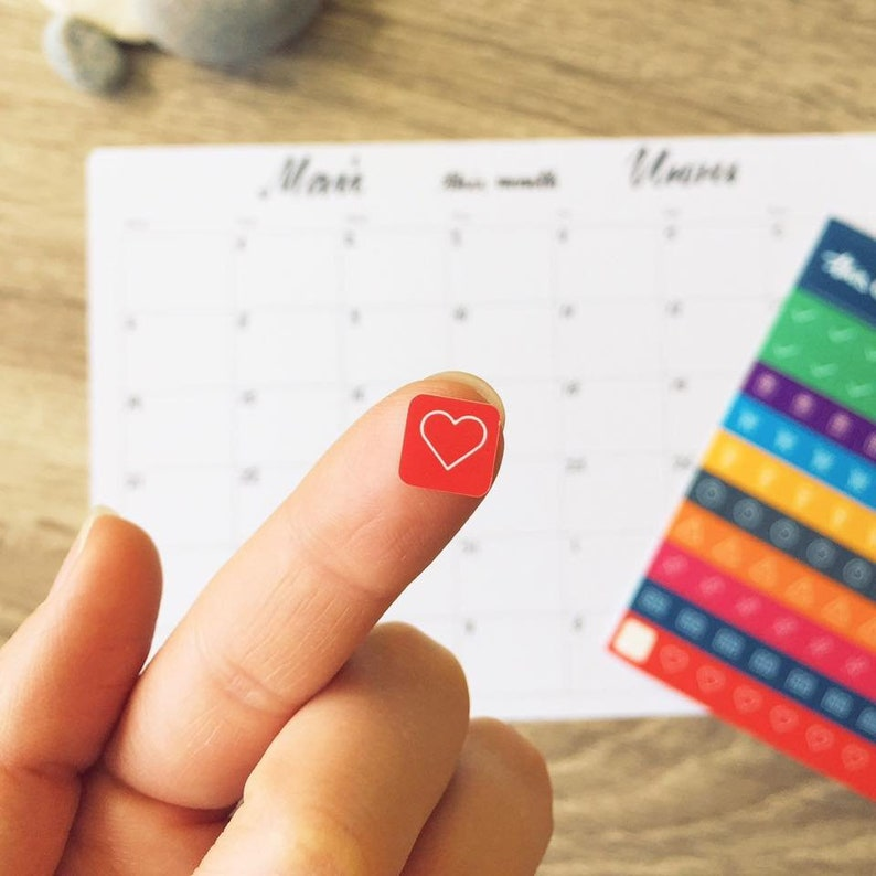 Monthly desk planner for the whole year with 100 colorful image 0