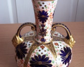 Antique Royal Crown Derby Two Headed Jester Vase