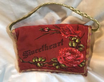 Vintage military sweetheart purse