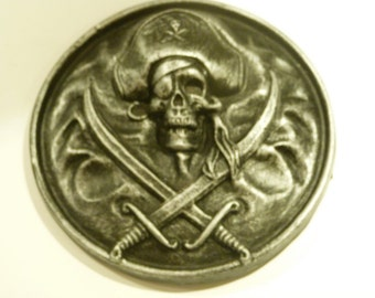 PIRATES of the CARIBBEAN 1972 resin Disneyland Pirate Plaque