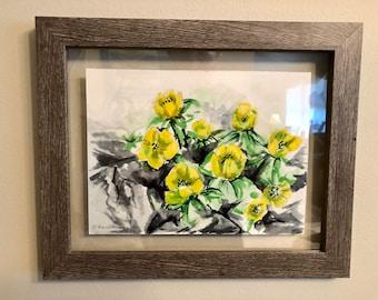 Winter Flowers #5 - Watercolor- by Damon Kardon- 2020