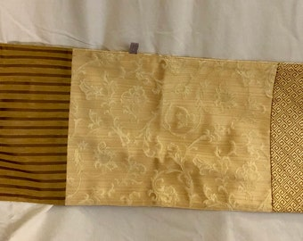 Handmade Patchwork Table Runner with Vintage Fabric - Nina Kardon Originals