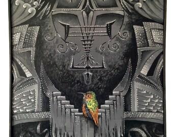 Birdhaus-2015- 24inx36in- acrylic on canvas- by Damon Kardon