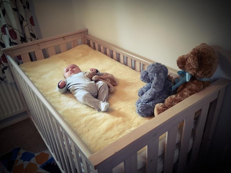 Special Baby Safe Whole Fleece Sheepskin Crib Mattress Topper Etsy