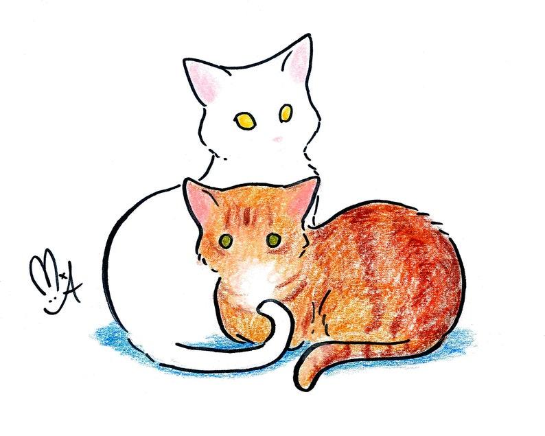 CUSTOM Hand drawn Pet Portrait  Cartoon style image 0