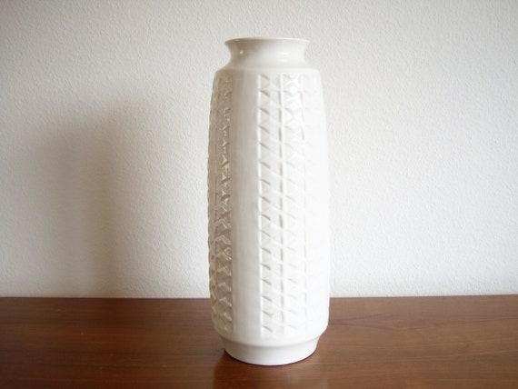 Bay Vase Bodenvase Weiss 910 40 Keramik 60er 70er Bodo Mans Etsy