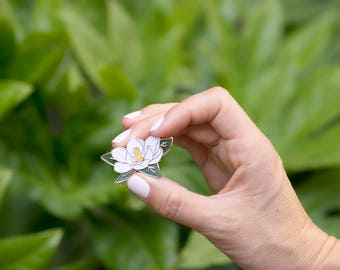 The Charleston Collection - Magnolia Enamel Pin