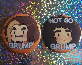 Game Grumps Button Set! /// Grump, Not so grump