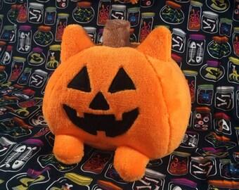 Pumpcat Plush!! ~ [ Pumpkin, Cat, Kitty, Halloween, Jack o lantern, Cute, Kawaii, Cute plush, kawaii plush, halloween plush, creepy cute ]
