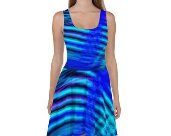 Neon Blue Cocktail Dress