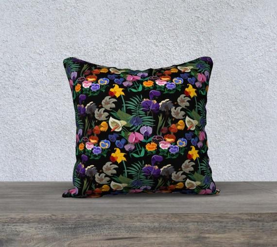 Stroll Through The Garden Pillow Cover Etsy