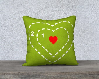 Grow Your Heart Pillow Cover