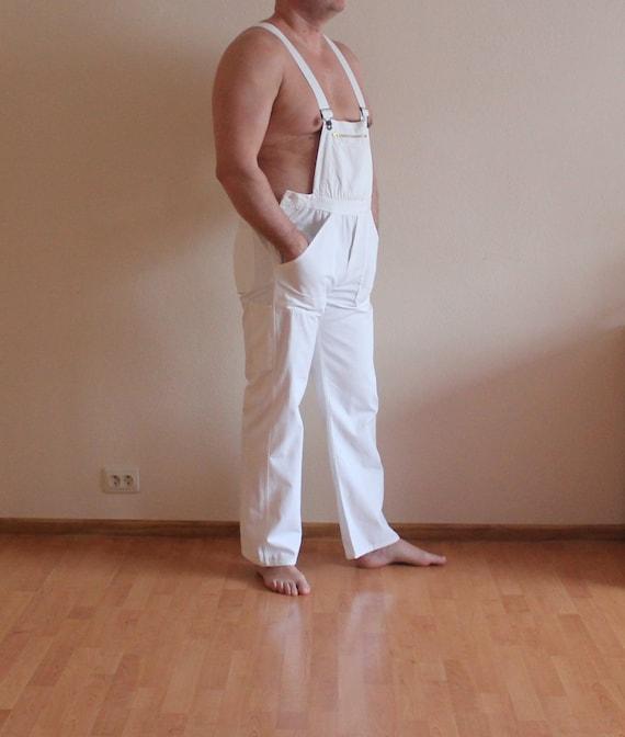 White Overalls Vintage Work Overalls White Jumpsui