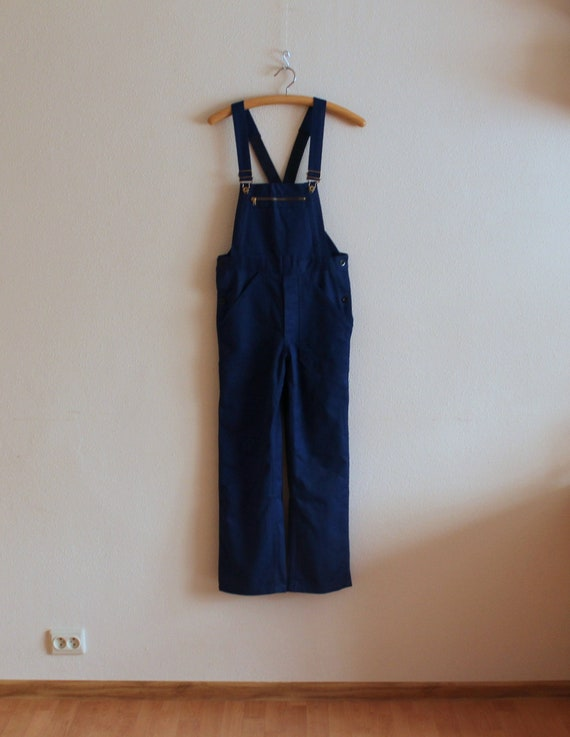 Blue Overalls Men's Work Overalls Blue Jumpsuit Wo