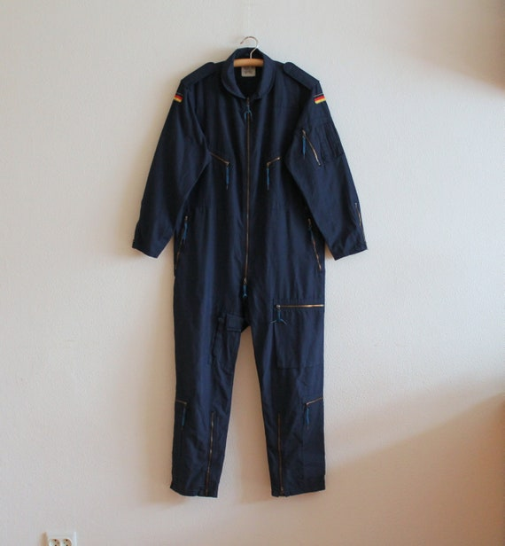 Men's Work Overall Vintage Blue Jumpsuit Workwear