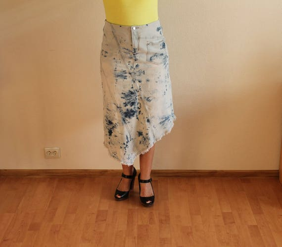 Women's Skirt Denim Skirt Blue Denim Skirt High Wa