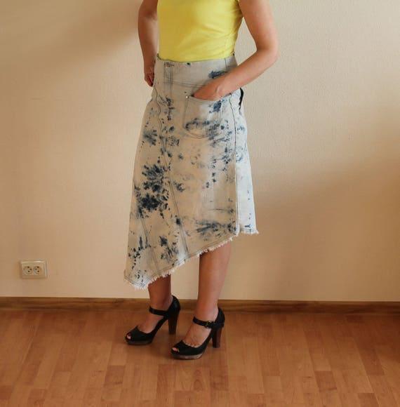 Women's Skirt Denim Skirt Blue Denim Skirt High W… - image 2