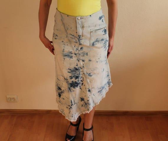 Women's Skirt Denim Skirt Blue Denim Skirt High W… - image 4