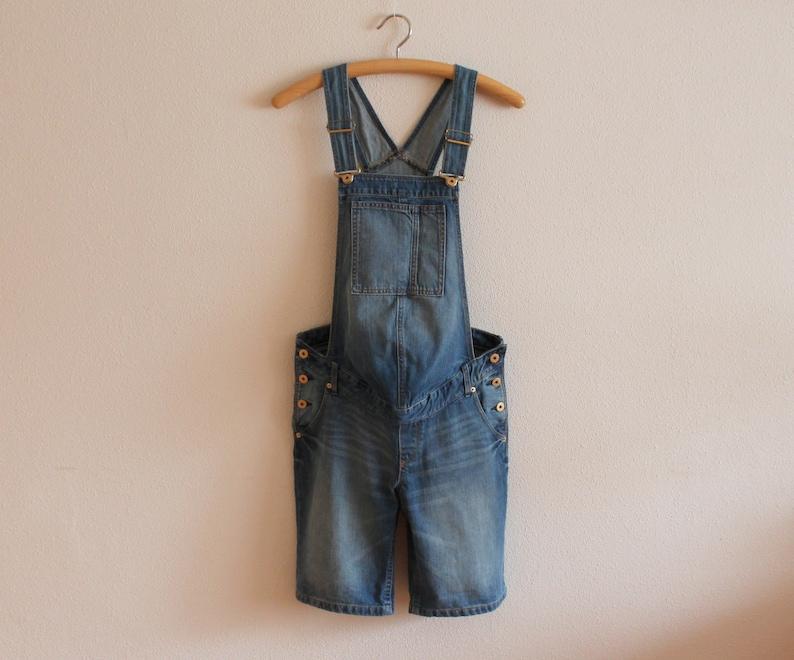 f990856979e1b Blue Denim Maternity Overalls Bib Overall Jumpsuit Jean Bib   Etsy