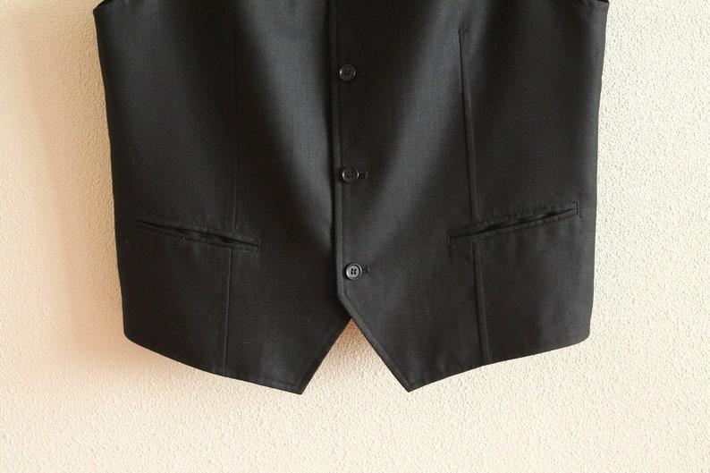 Black Vest Mens Vest NOS Black Mens Vest Steampunk Vest Classic Men/'s   Waistcoat Formal Waistcoat Gentlemen/'s Victorian Classic Fitted
