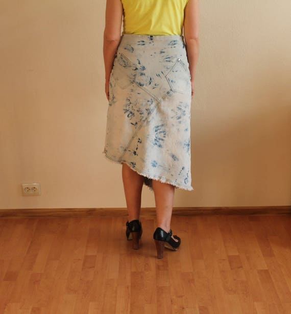 Women's Skirt Denim Skirt Blue Denim Skirt High W… - image 3