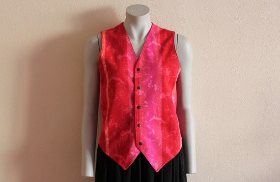 Red Vest Women's Vest Red Women Vest Fitted Womens