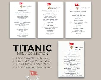 Titanic Menu Collection - DIGITAL DOWNLOAD