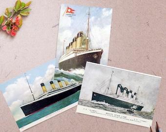 RMS Titanic Postcards - Set of 3 - *FREE SHIPPING*