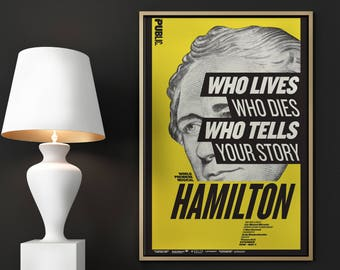 SALE! 24x36in Hamilton Musical Poster - Public Theater