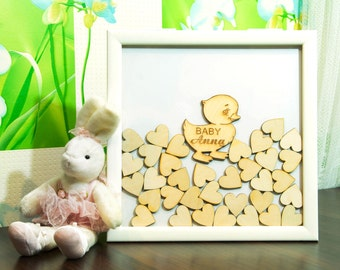 Baby Shower Guest Book Alternative Baby boy Guestbook Baby GIRL Frame Sign Girl Guest Book Drop box guest book Boy baby shower guestbook