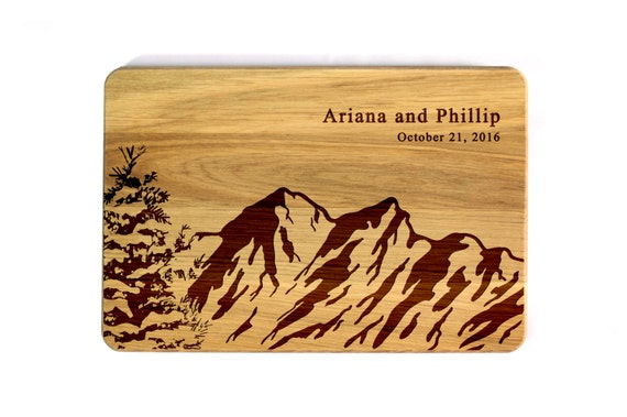 MOUNTAINS /& FOREST Engraved Cutting Board
