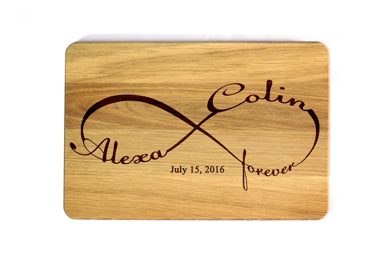 Wedding Gift Canada: Cutting Board Wedding Gift Infinity Personalized Cutting