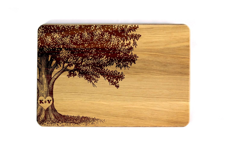 Family Tree Cutting Board Wedding Gift Personalized Wedding Etsy
