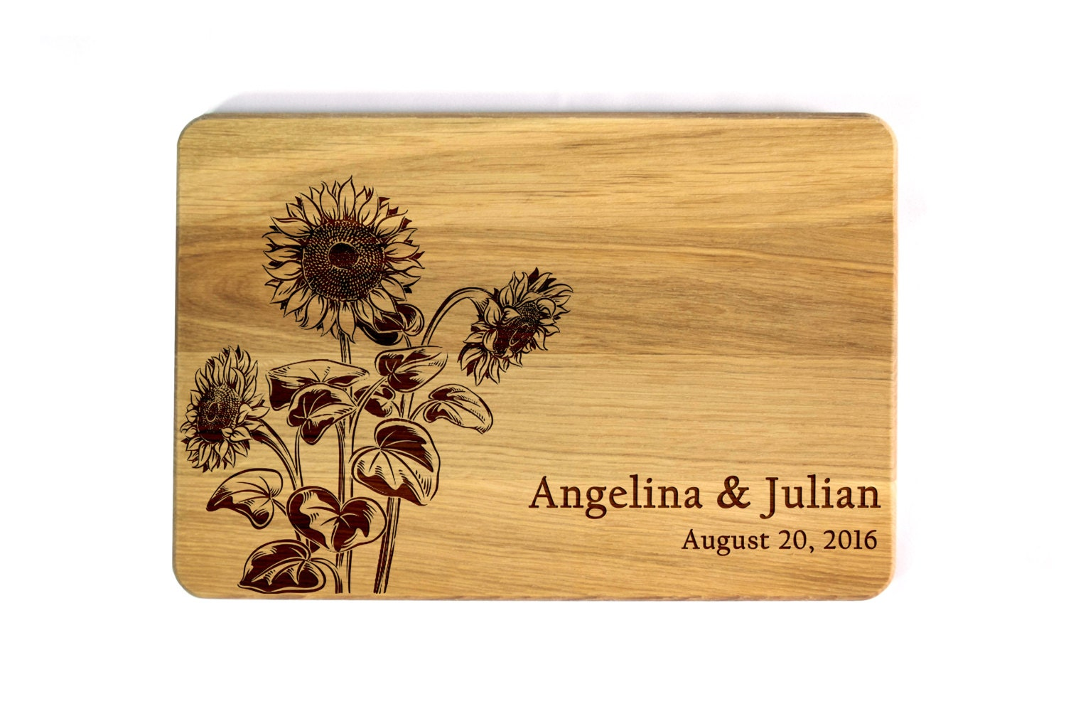 Wedding Gift Ideas Australia: Wedding Cutting Board Sunflowers Wedding Gift For Couple