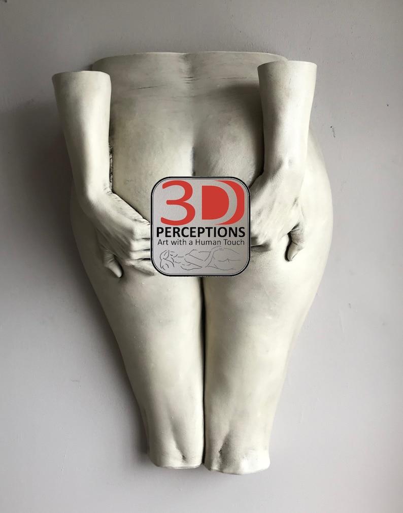 The Gift - Lifecast Erotic Art Sculpture Buttocks, Artist US