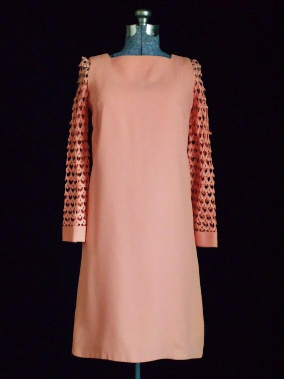 Vintage Dress 1960s Mod Dress Retro Dress With Cro