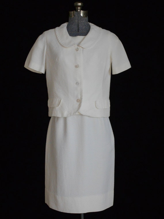 Vintage Suit 1950s Suit Retro Suit White Suit 50s