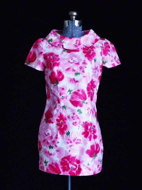 Vintage Dress 1960s Mini Dress Retro Dresses Flora